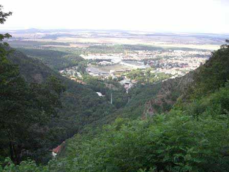 Uitzicht over Thale in het Harzgebergte