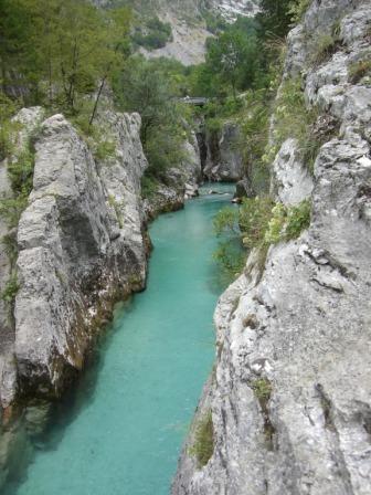 De rivier bij Camp Soca
