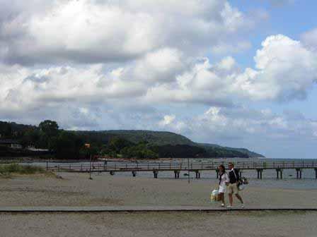 Bastad uitzicht over de baai van Laholm