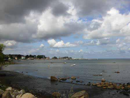 Bastad uitzicht over het Kattegat