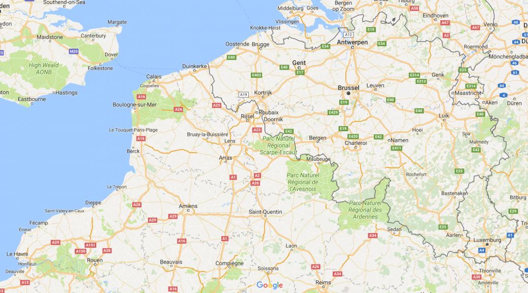 België op de kaart
