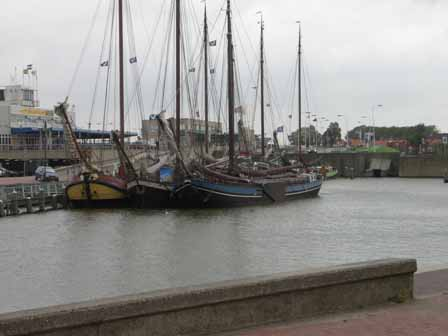 De haven in Harlingen