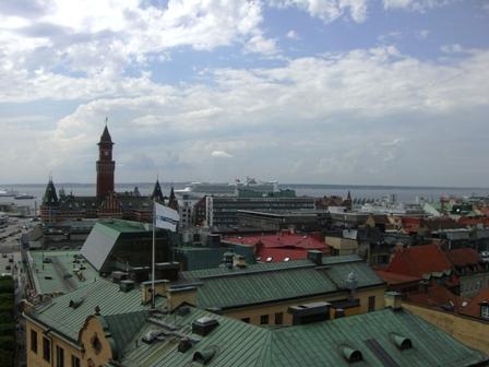 Uitzicht vanaf de Karnan Toren in Helsingborg