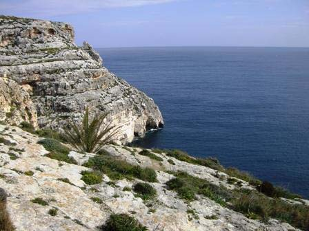 Uitzicht op Malta over de zee