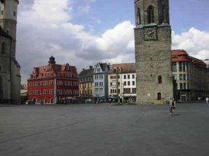 Marktplein van Halle in de Harz