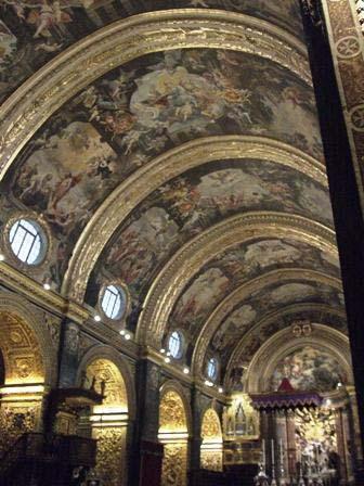 Plafond in de kathedraal