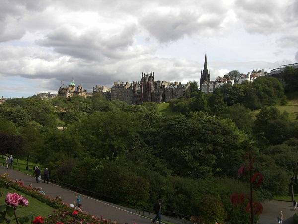 uitzicht Edinburgh op Princess astreet
