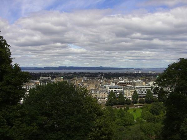 uitzicht Edinburgh vanaf Calton hill