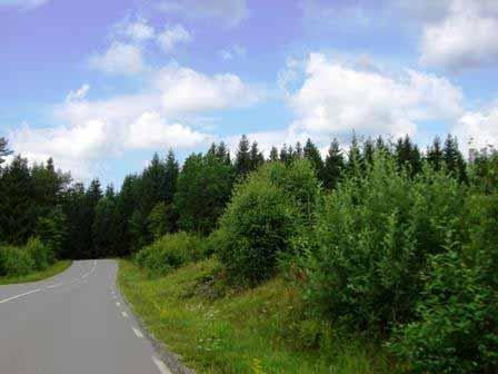 Glooiend landschap in Zuid-Zweden