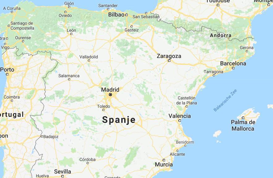 Spanje op de kaart