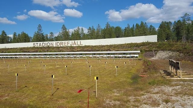 Stadion Idrefjäll, de schietbaan