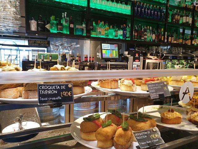 Eten in de Mercado de la Ribera