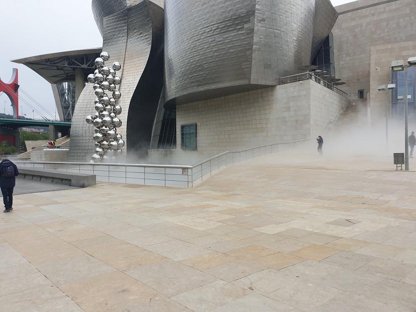 Guggenheim tijdens het hardlopen.