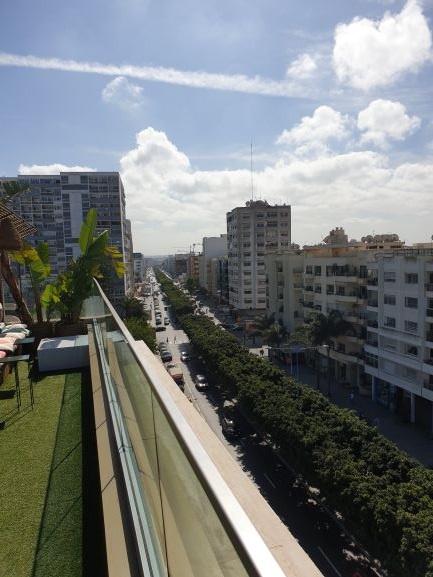 Uitzicht vanaf het dakterras van Aparthotel Adagio Casablanca City Center